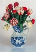 Greeting Card - Masons Jug with Tulips
